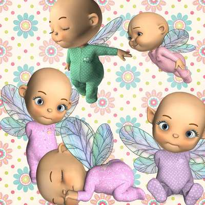 Click for more details of Toon Baby Fairy 1 (digital downloads) by DawnsDesigns