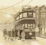 Click for more details of Tram Stop (cross stitch) by Phil Smith