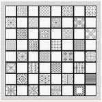 Click for more details of Travel Size Chessboard (blackwork) by DoodleCraft Design