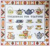 Click for more details of Treasures for Teatime (cross stitch) by Permin of Copenhagen