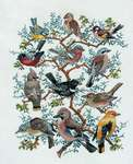 Click for more details of Tree with Birds (cross stitch) by Eva Rosenstand