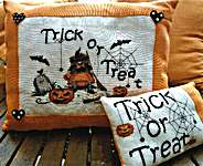 Click for more details of Trick or Treat (cross stitch) by Serenita di Campagna