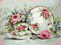 Click for more details of Trio with Blooms (cross stitch) by Luca - S