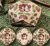 Click for more details of Tudor Rose Biscornu (cross stitch) by Heartstring Samplery