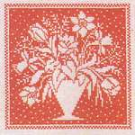 Click for more details of Tulips and Daffodils in a Vase (cross stitch) by Haandarbejdets Fremme