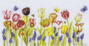 Click for more details of Tulips (cross stitch) by Marjolein Bastin