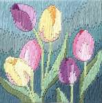 Click for more details of Tulips (long-stitch) by Rose Swalwell