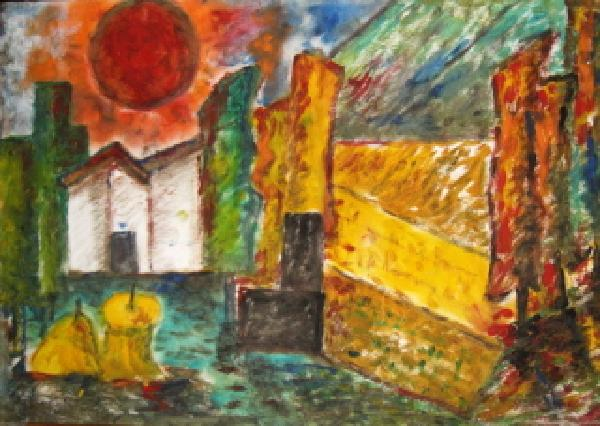 Click for more details of Tuscan Landscape (oil on board) by gianbencio