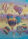 Click for more details of Twilight Balloon Flight (cross-stitch pattern) by The Golden Hoop