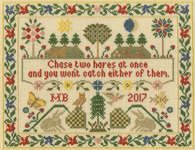 Click for more details of Two Hares (cross stitch) by Bothy Threads