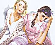 Click for more details of Two Romantic Ladies (cross stitch) by Lanarte