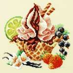 Click for more details of Vanilla Ice Cream (cross stitch) by Magic Needle