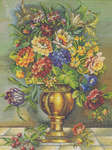 Click for more details of Vase of Flowers (cross stitch) by Eva Rosenstand