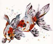 Click for more details of Veiltail Goldfish (cross stitch) by Oven Company