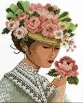 Click for more details of Victorian Lady (cross stitch) by Lesley Teare
