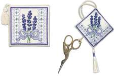 Click for more details of Victorian Lavender Stitcher's Accessories Set (cross stitch) by Textile Heritage