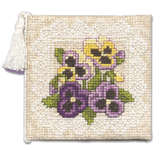 Click for more details of Victorian Pansies Needlecase (cross stitch) by Textile Heritage