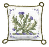 Click for more details of Victorian Thistles Pincushion (cross stitch) by Textile Heritage
