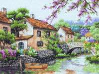 Click for more details of Village Canal (cross stitch) by Dimensions