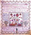 Click for more details of Village Square Sampler, Mary Allen 1818 (cross stitch) by Samplers Remembered