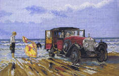 Click for more details of Vintage Rolls on the Beach (cross stitch) by Anchor