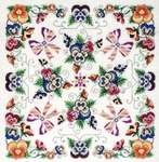 Click for more details of Violaceae The Pansy Mandala (cross stitch) by Glendon Place