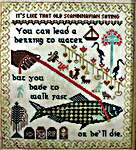 Click for more details of Walk Fast Sampler (cross stitch) by Lindy Stitches