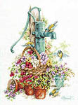 Click for more details of Water Pump and Birds (cross-stitch kit) by Lanarte