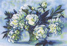 Click for more details of Watercolour Peonies (cross stitch) by Luca - S