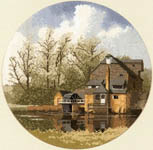 Click for more details of Watermill (cross stitch) by John Clayton