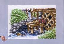 Click for more details of Watermill with Ducks (cross stitch) by Permin of Copenhagen