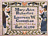 Click for more details of Wedding & Birth Samplers III (cross stitch) by The Prairie Schooler