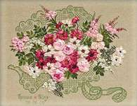 Click for more details of Wedding Bouquet (ribbon embroidery) by Riolis