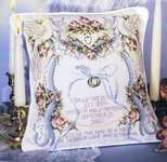 Click for more details of Wedding Doves Ringbearer's Pillow (cross stitch) by Stoney Creek