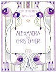 Click for more details of Wedding or Anniversary Sampler in Mackintosh Style (cross-stitch kit) by Rose Swalwell