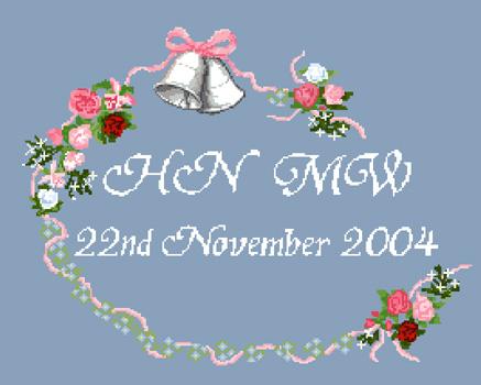Click for more details of Wedding Sampler (cross stitch) by Anne Peden
