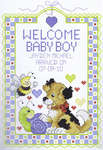 Click for more details of Welcome Baby Boy (cross stitch) by Janlynn