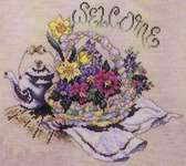 Click for more details of Welcome Basket (cross stitch) by Stoney Creek
