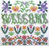 Click for more details of Welcome Blooming Borders (cross stitch) by Tempting Tangles Designs