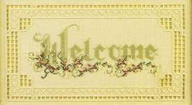 Click for more details of Welcome (hardanger) by Cross 'N Patch