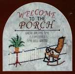 Click for more details of Welcome to the Porch (cross stitch) by Glendon Place