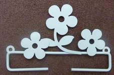 Click for more details of White Deco Daisy Hangers (bell pulls) by Rico Design