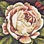 Click for more details of White Rose Bush (cross-stitch kit) by Lanarte