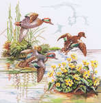 Click for more details of Wild Ducks (cross stitch) by Eva Rosenstand