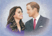 Click for more details of William and Catherine (cross-stitch kit) by John Clayton