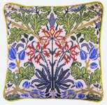 William Morris Style Cushion Front - Hyacinth