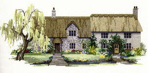 Click for more details of Willow Tree Cottages (cross-stitch kit) by Rose Swalwell