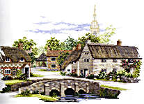 Click for more details of Wiltshire Village (cross stitch) by Rose Swalwell