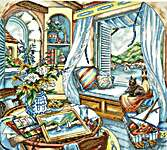 Click for more details of Window Seat (cross stitch) by Letistitch