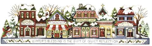Click for more details of Winter in the Village (cross stitch) by Stoney Creek